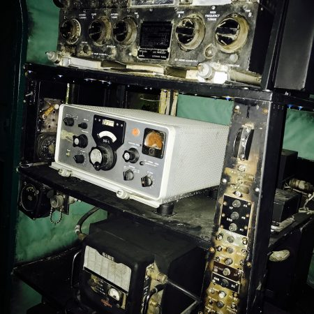 The equipment inside the cockpit